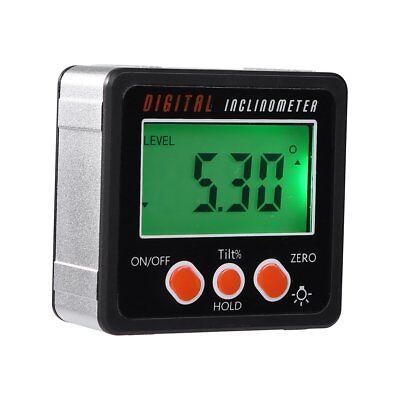 Mini Lcd Digital Inclinometer Protractor Bevel Angle Gauge Magnet Base Gracious