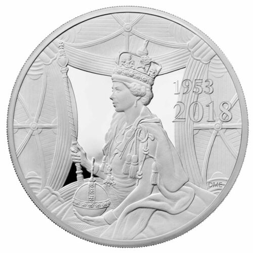 2018 GREAT BRITAIN SAPPHIRE CORONATION FIRST RELEASES NGC PF 70 SILVER 10 POUND