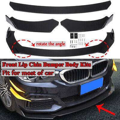 Universal Auto Car Lower Front Bumper Lip Body Kit Spoiler Splitter Gloosy Black