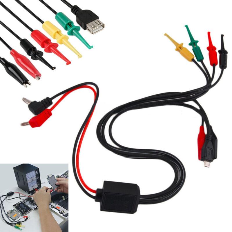 Power Supply Test Lead Cable Kit 2 Banana Plug 2 Alligator C