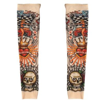 Fake Nylon Kid Temporary Tattoo Sleeves Arm Stockings for Cool Child Pack of 2 Temporary Tattoo Pack