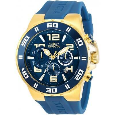 Invicta Men's Watch Pro Diver Chronograph Two Tone Case Blue Strap 30938