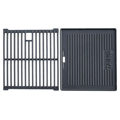 Gusseisen Grill Rost (TAINO BASIC 4+1 Gusseisen Rost Grillplatte Grillrost Zubehör Set Grill Gasgrill)