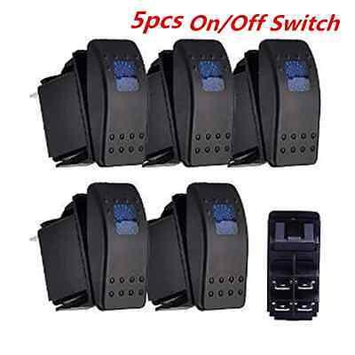 5pcs ARB Rocker Toggle Switch 12V 20A ON/OFF Switch Bar LED For Car Boat Marine