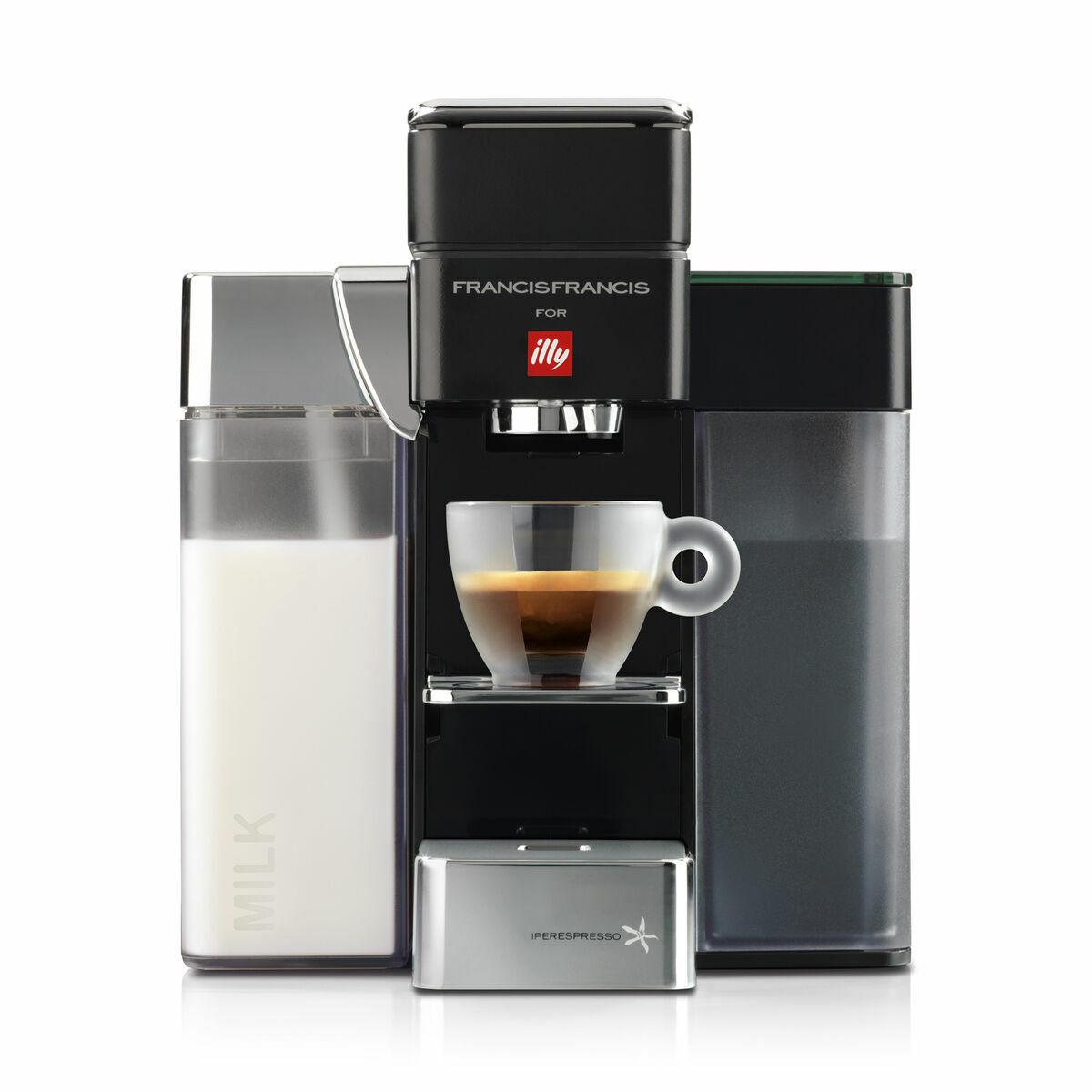 y5 iperespresso milk cappuccino and espresso machine