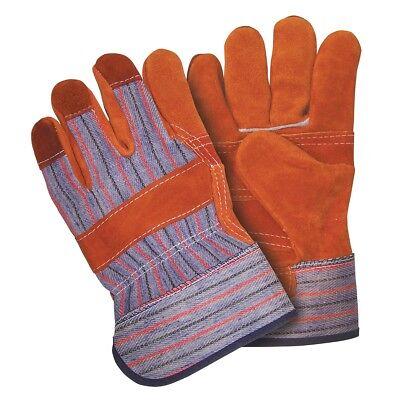 1 Dozen Memphis Grade C Shoulder Russet Leather Work Gloves Large