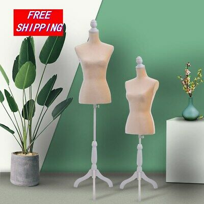 Mannequin Female Torso Clothing Dress Form Shop Display Wwhite Tripod Stand