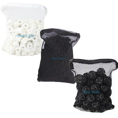 Aquarium Filter Media 1 Lb Active Carbon   50Pcs Bio Balls   500G Ceramic Rings