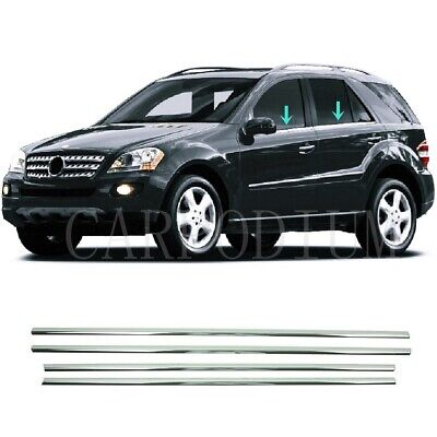 Chrom Fensterleisten 4 tlg EDELSTAHL Für Mercedes M-Klasse W164 ML 2005-2011
