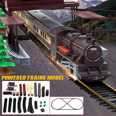 Grande Eléctrico Clásico Tren Raíl Vehículo Infantil Set Juguete Rastrear Operar