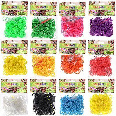 7200 Loombänder Mix Gummibänder Band Loom  farblich sort. 7512 tlg. Hakennadel