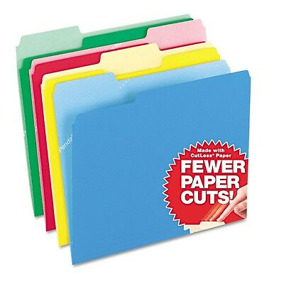 Pendaflex - CutLess Assorted Color File Folders, 1/3 Tab 11pt - 100 Pack