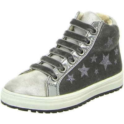 It's for you Sneaker Boot silver grau Sterne warm Reißverschluß Schnür Mädchen ()