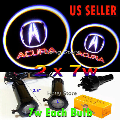 2x 7w Ghost Shadow Projector Laser Logo LED Door Step Light Courtesy for ACURA