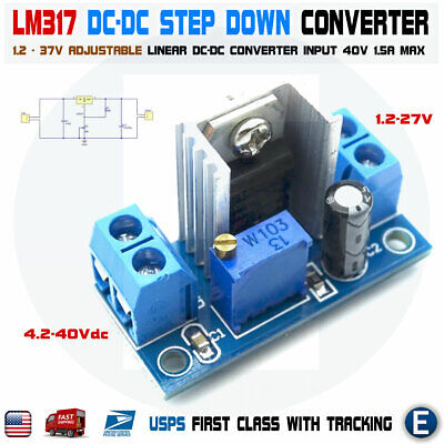 Lm317 Dc-dc Converter Adjustable Linear Regulator Step Down Circuit Board Power