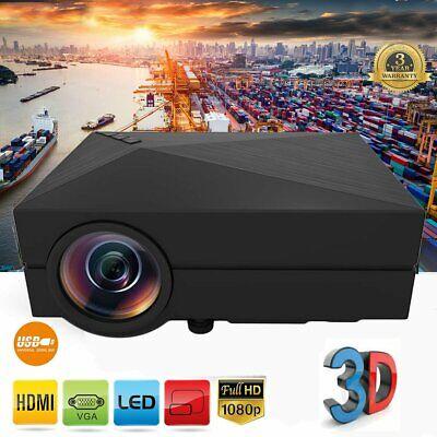 7000 Lumens Portable Mini Projector HD 1080P Home Theater Cinema USB VGA SD AV