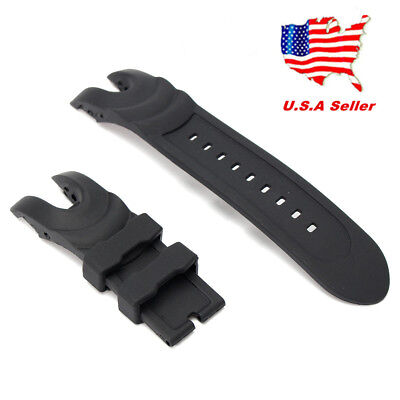 US!Black Rubber Wristwatch Watch Band Strap For Invicta Reserve Collection Venom Black Rubber Wrist Watch