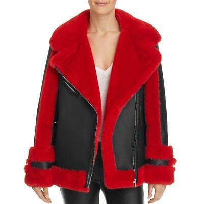 Heurueh Womens Faux-Fur Jacket Dressy Moto Coat BHFO 5042