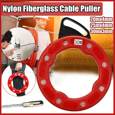 Fish Tape Fiberglass Wire Cable Running Rod Duct Rodder Fishtape Puller