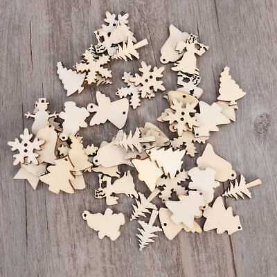 50Pcs Wood Snowflake Xmas Wedding Tree Hanging Pendant Ornament Christmas Decor - Snowflake Hanging Decorations