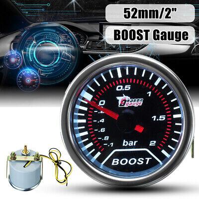 52mm Universal Bar LED Light Turbo Boost Car Pressure Pointer Gauge Meter DC 12V