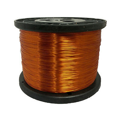 28 Awg Gauge Enameled Copper Magnet Wire 5.0 Lbs 9936 Length 0.0142 200c Nat
