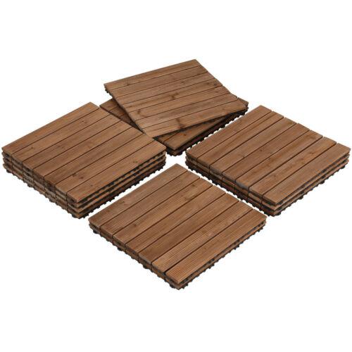 17.5x17.5'' Patio Deck Tiles Wood Flooring Pavers Tiles