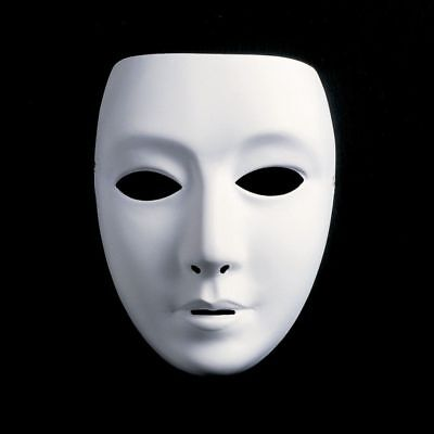 White Face Mask Halloween Party Masks Hip-Hop Ghost Dance Performances Props USA](Halloween Party Dance)