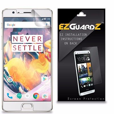 3 New Screen Protector (3X EZguardz NEW Screen Protector Shield HD 3X For OnePlus 3T )