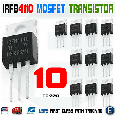 10pcs Irfb4110 Irf4110 Power Mosfet Transistor To-220 100v 180a Irfp4110pbf
