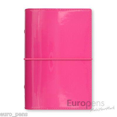 Filofax Domino Patent Personal Size Diary Organiser - Hot Pink 022481