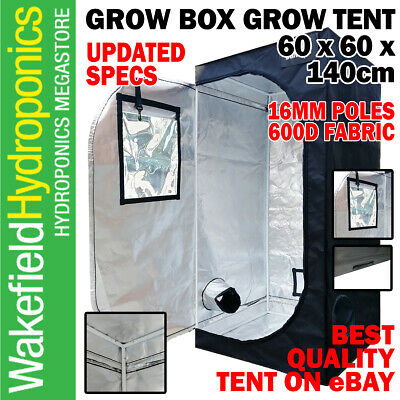 Grow Box Grow Tent 0.6 x 0.6 x 1.4m 600D Fabric and Diamond Diffusion Hydroponic