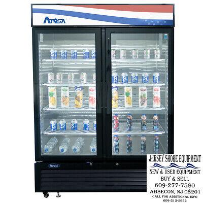 Atosa Mcf8732gr Two Glass Door Freezer Black 39 12 X 31 12 X 83
