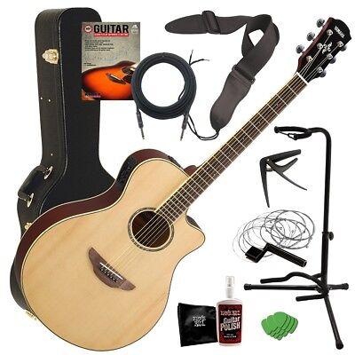 Yamaha APX600 Acoustic-Electric Guitar - Natural COMPLETE GUITAR BUNDLE