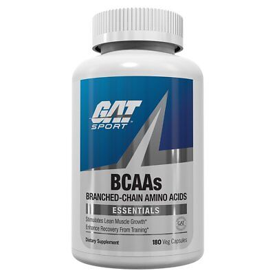 GAT BCAA Amino Acids RECOVERY, STRENGTH 180 capsules BUILD MUSCLE Amino Acids 180 Capsules