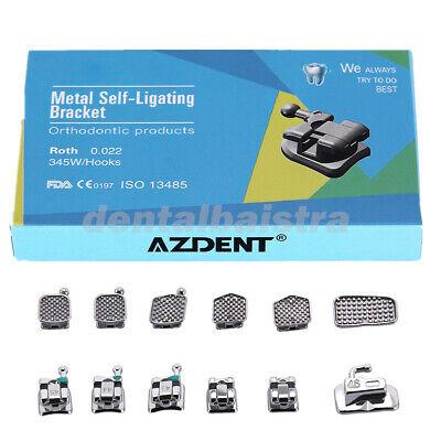 Azdent Dental Orthodontic Brackets Self Ligating Roth.022 Hooks 345 Buccal Tube