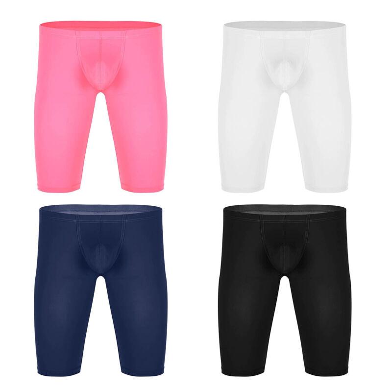 Men Compression Shorts Pants Fitness Running Sports Gym Short Underwear Bump