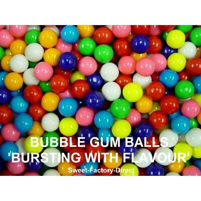 Bubble Gum Balls Bulk Chewing Candy Machine Refill Multi Coloured Halal Sweets