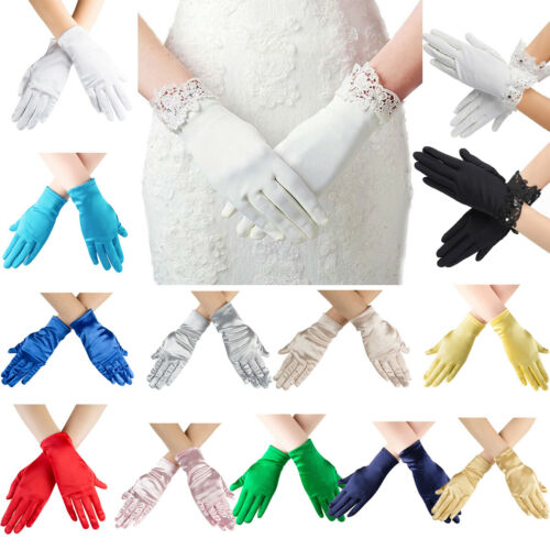 Women Ladies Lace Sexy Opera Gloves Wrist Length Girl Stretc