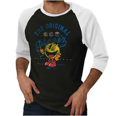The Original Player Pac-Man Rubiks Video Game 3/4 Sleeved Tshirt Tee T For Women