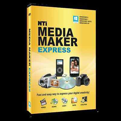 NTI Media Maker Express, CD DVD Burning for Win 10, 8.1 / 8 / 7, Vista or XP SP3