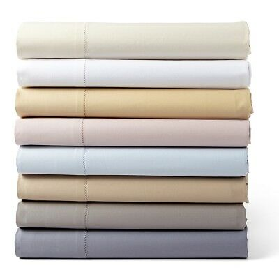- Hudson Park 600 TC Solid Twin Flat Sheet Slate Egyptian Cotton