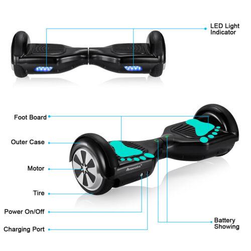 Balance Board With Wheels: SELF BALANCING SCOOTER ELECTRIC BALANCE BOARD BLUETOOTH 2