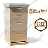 Langstroth Bee Hive 10 Frame 2 Deep 2 Medium (Includes all Frames & Foundations)