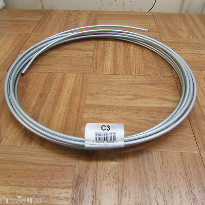 "SILVER ZINC BRAKE LINE STEEL TUBING COIL 3/16"" OD X 25 FT Roll"