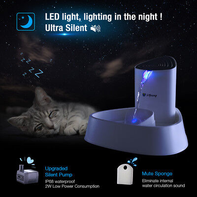 1.5L LED Pet Water Fountain Dogs Cat Automatic Dispenser Drinking Bowl Drinker - Fountain Drink Dispensers