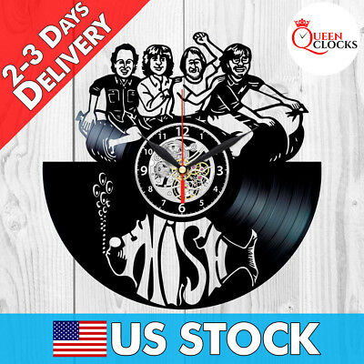 Phish Rock Band Vinyl Record Wall Clock Room Art Decor Birthday Xmas Gift Idea](Birthday Wall Ideas)