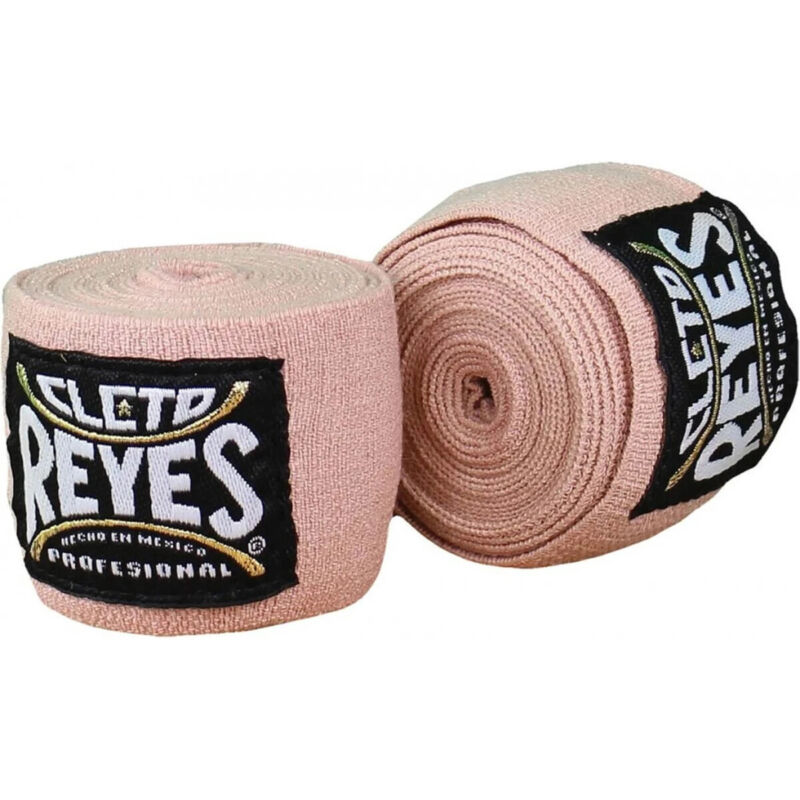 Cleto Reyes High Compression Boxing Handwraps - Natural/Black