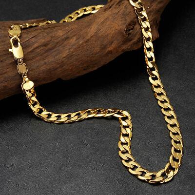 erkette Halskette 10mm 24Karat 999er Gold vergoldet 60cm (Herren Gold Kette Halskette)