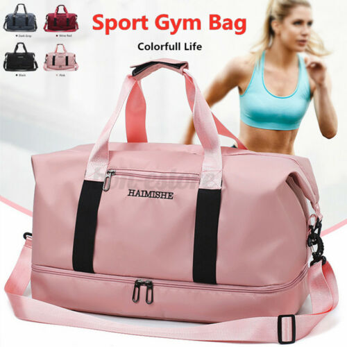Women Waterproof Sport Gym Shoulder Bag Travel Luggage Duffel Handbag Tote US Clothing, Shoes & Accessories